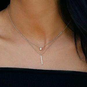 Gold-plated Sterling Silver Layered Necklace